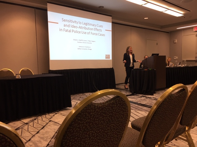 ARC associate giving a presentation at the 2019 APLS conference