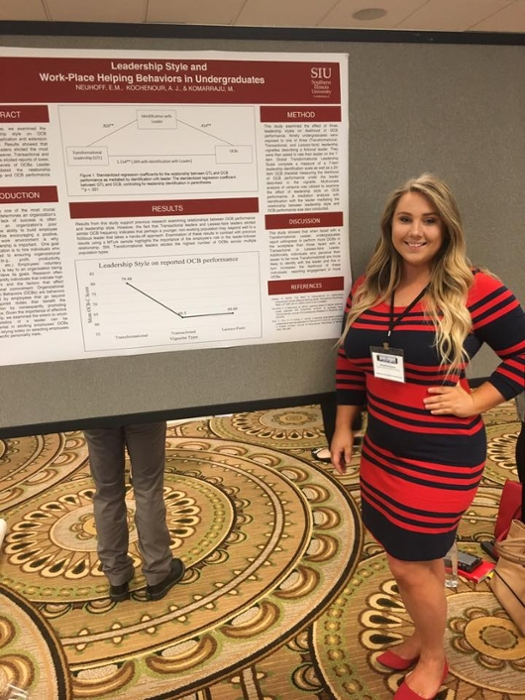 ARC Associate with her poster at the 2017 MPA conference